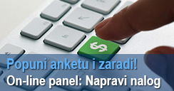 Online panel: Napravi nalog