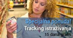 Specijalna ponuda: Tracking istraživanja