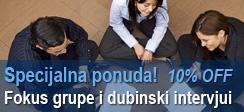 Specijalna ponuda: Fokus grupe i dubinski intervjui